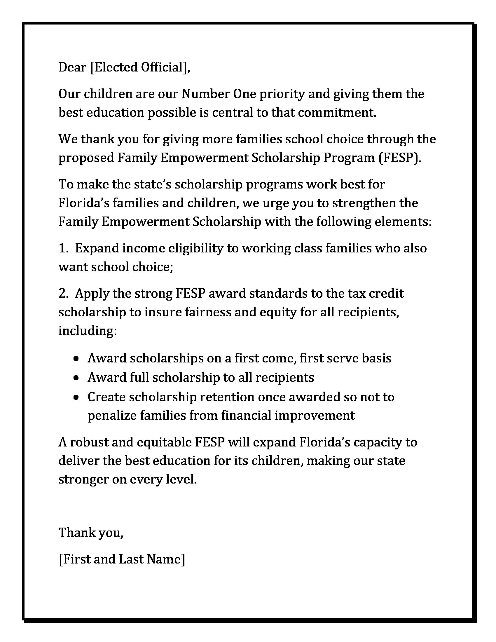 petition letter
